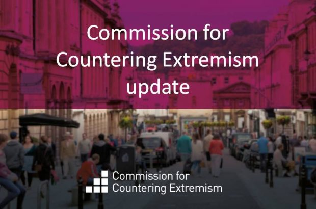 Graphic saying Commission for Countering Extremism update
