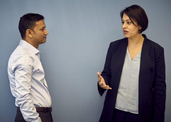 Sara Khan meets Cllr Rahman