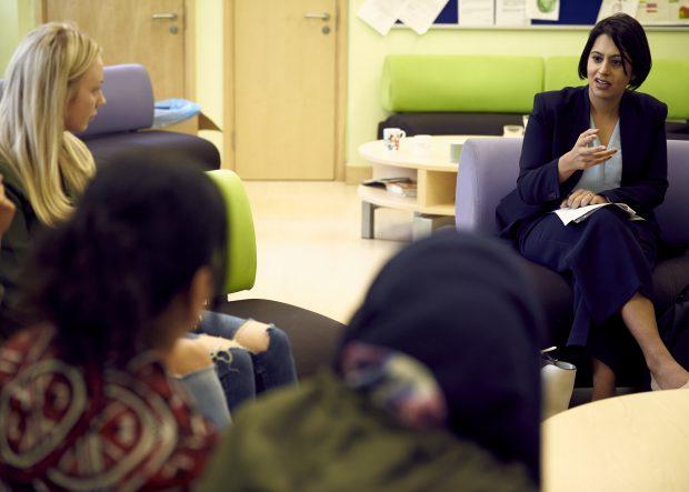 Sara Khan talks to women