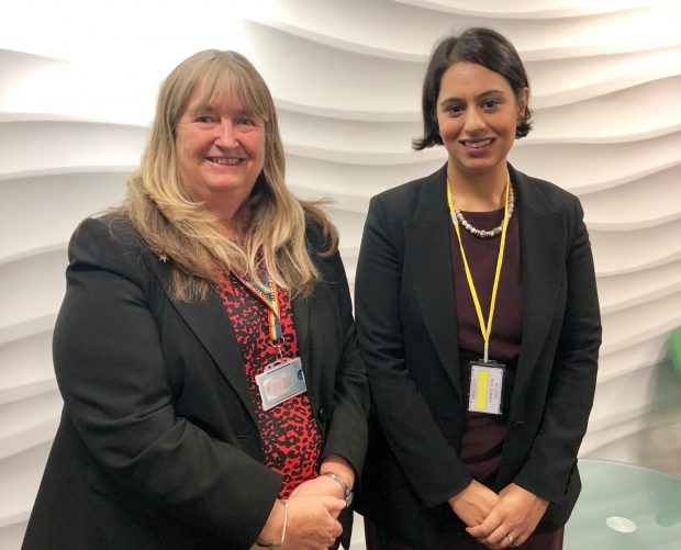 Sara Khan and Julie James, Leader of the House, Welsh Government