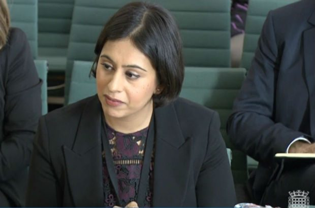 Sara Khan gives evidence at the Home Affairs Committee