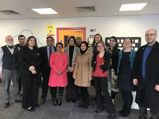 Sara Khan discusses extremism with activists in Birmingham